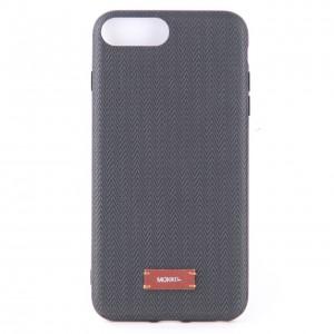 "Тканевый чехол накладка ""Mokfi"" серого цвета для iPhone 7+"