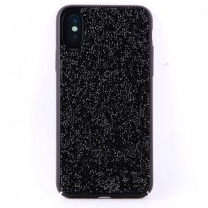 Чехол накладка чёрные стразы для iPhone X