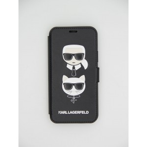 Кожаный чехол книжка Karl Lagerfeld на iPhone 11 Pro
