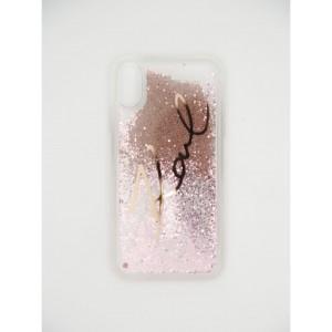 Силиконовый чехол c блестками на iPhone Xr Karl Lagerfeld