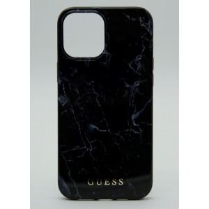Чехол Guess для iPhone 12 Mini с принтом под мрамор